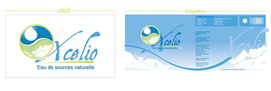 Logo – étiquette bouteille Xcélio